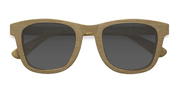 Yellow Nevada -  Wood Texture Sunglasses