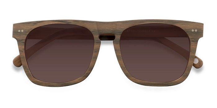 Brown Miami -  Wood Texture Sunglasses