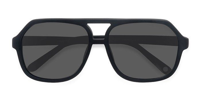 Matte Black Vegas -  Acetate Sunglasses