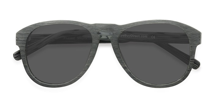 Green Phased -  Wood Texture Sunglasses