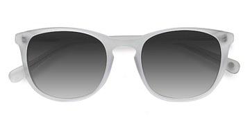 Matte Clear Audio -  Acetate Sunglasses