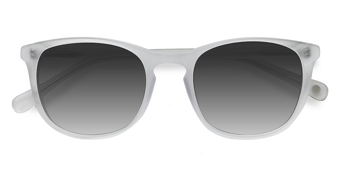 Matte Clear Audio -  Acetate Sunglasses