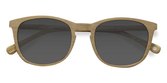 Yellow Audio -  Wood Texture Sunglasses