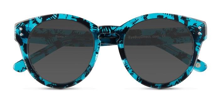 Blue Floral  Rome -  Acetate Sunglasses