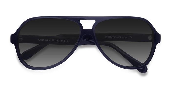 Navy Americana -  Acetate Sunglasses