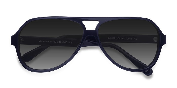 Navy Americana -  Acetate Sunglasses
