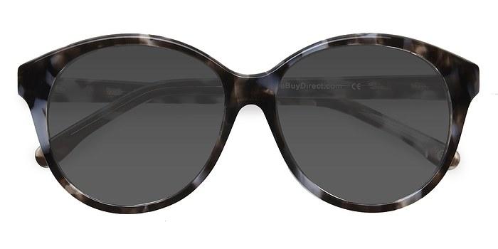 Gray Floral Stella -  Acetate Sunglasses