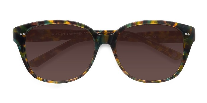 Brown Floral  Lune Noire -  Acetate Sunglasses