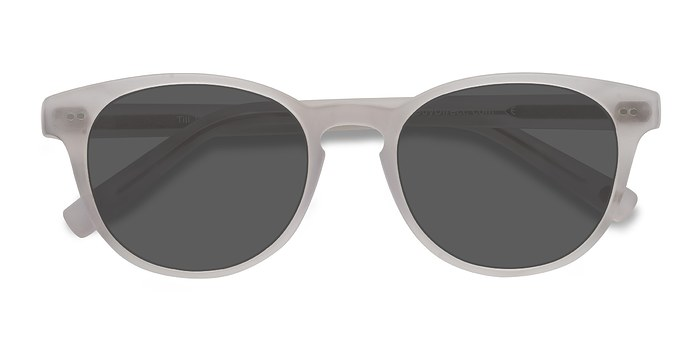 Matte White Till Dawn -  Acetate Sunglasses