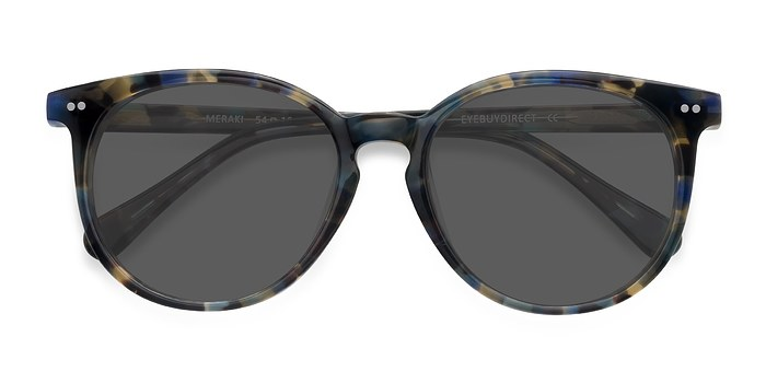 Blue Floral Meraki -  Acetate Sunglasses