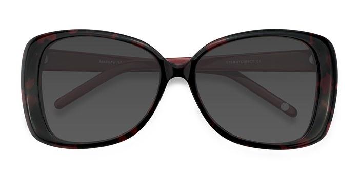 Black Red Marilyn -  Vintage Acetate Sunglasses
