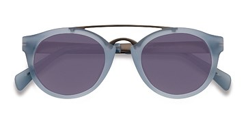 Clear/Blue Enzo -  Acetate Sunglasses