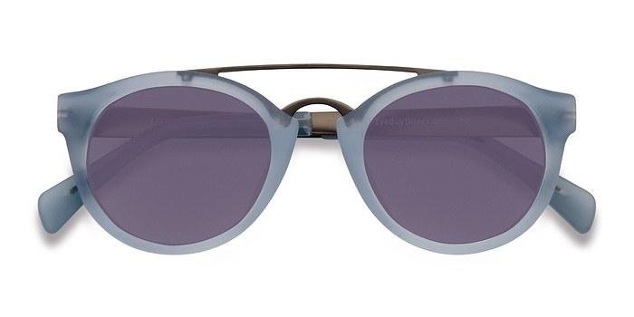 Clear/Blue Enzo -  Acetate Sunglasses