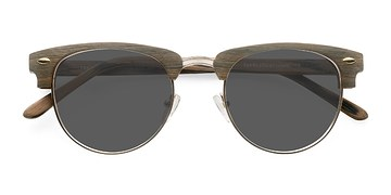 Walnut & Gold The Hamptons -  Wood Texture Sunglasses