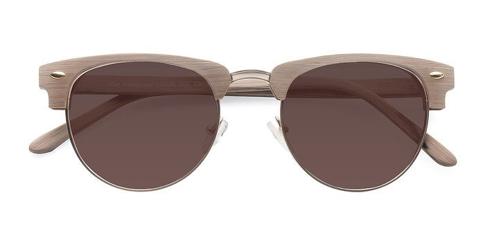 Oak & Silver The Hamptons -  Wood Texture Sunglasses