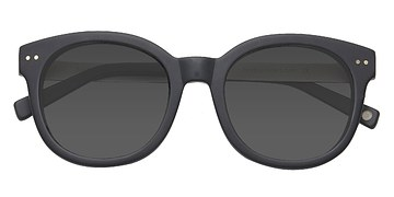 Matte Black Till Sunset -  Acetate Sunglasses