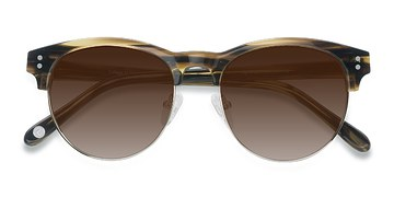 Brown College -  Vintage Acetate Sunglasses