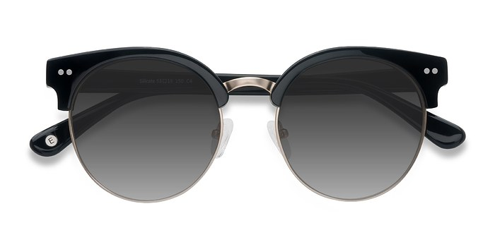Black Silicate -  Acetate Sunglasses