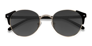 Golden Black Miaou -  Metal Sunglasses