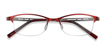Red Pearl -  Metal Eyeglasses