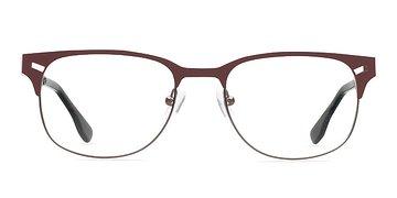 Coffee Merrion -  Fashion Metal Eyeglasses