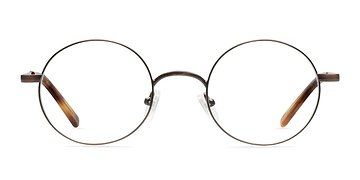 Brown Socrates -  Fashion Metal Eyeglasses