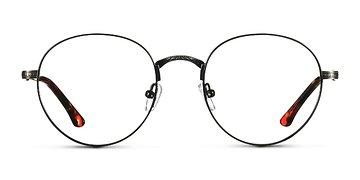 Black & Gunmetal Fitzgerald M -  Designer Metal Eyeglasses