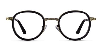 Black Bourgeois M -  Designer Metal Eyeglasses