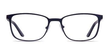 Navy Lines -  Metal Eyeglasses