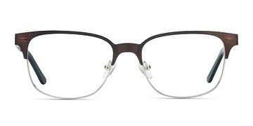 Brown Silver Baker Street -  Metal Eyeglasses