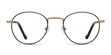 Brown Golden Mingus -  Metal Eyeglasses