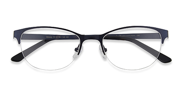 Navy Melody -  Metal Eyeglasses