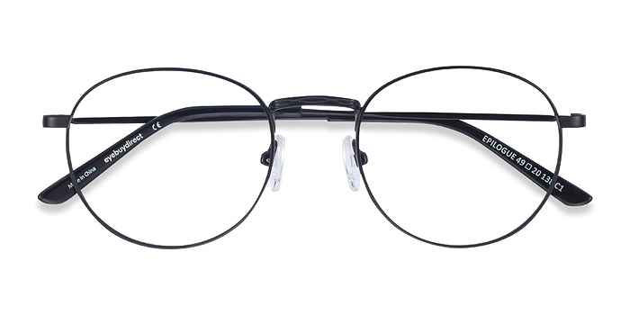 Black Epilogue -  Classic Metal Eyeglasses
