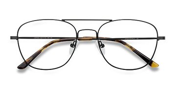 Black Captain -  Metal Eyeglasses