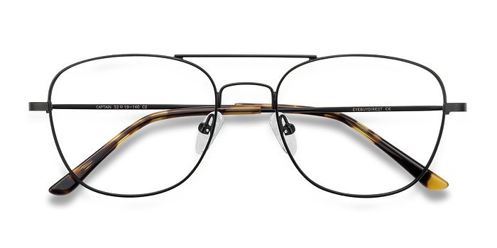 Black Captain -  Geek Metal Eyeglasses
