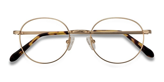 Golden Ledger -  Geek Metal Eyeglasses