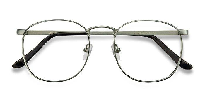 Matte Blue Closer -  Metal Eyeglasses