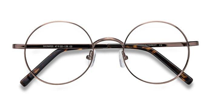 Brown Tortoise Socrates -  Metal Eyeglasses