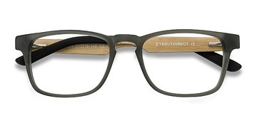 Gray Lincoln -  Fashion Wood Texture Eyeglasses