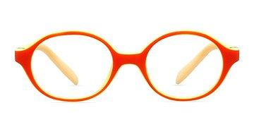 Orange/Yellow Theo -  Colorful Plastic Eyeglasses