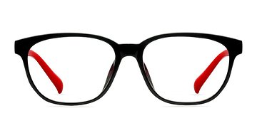 Black & Red Moody -  Classic Plastic Eyeglasses