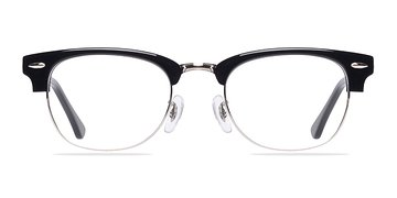 Black/Silver Sweet Jane -  Classic Acetate Eyeglasses