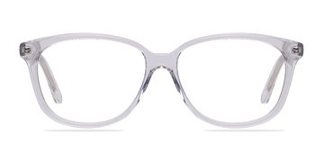 Clear/White Escapee -  Classic Acetate Eyeglasses