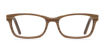 Brown/Striped Mesquite -  Classic Wood Texture Eyeglasses