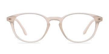 Clear White Sea Breeze -  Fashion Plastic Eyeglasses
