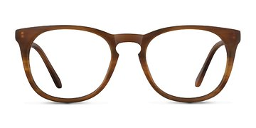 Brown Striped Providence S -  Designer Acetate Eyeglasses