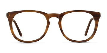 Brown Striped Providence M -  Designer Acetate Eyeglasses