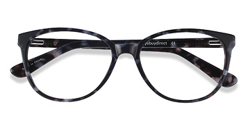 Gray Floral Hepburn M -  Fashion Acetate Eyeglasses