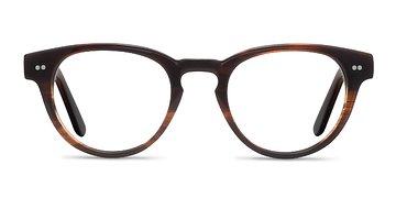 Brown Striped  Oversea -  Acetate Eyeglasses