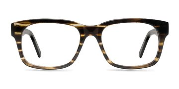 Brown Striped Lynch -  Fashion Acetate Eyeglasses
